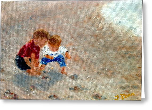Boys At Play Greeting Card