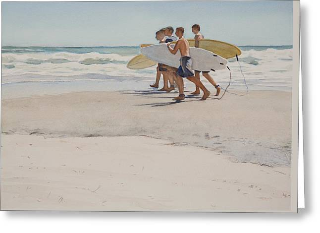Boys Of Summer Greeting Card by Christopher Reid