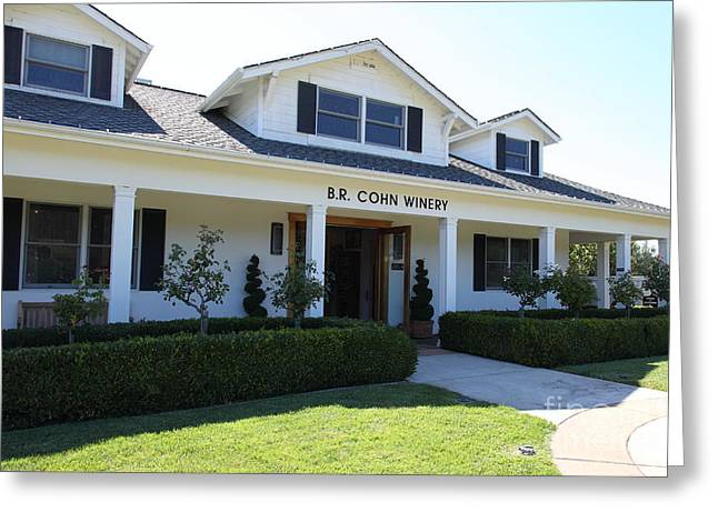 Br Cohn Winery In The Sonoma California Wine Country 5d24615 Greeting Card by Wingsdomain Art and Photography