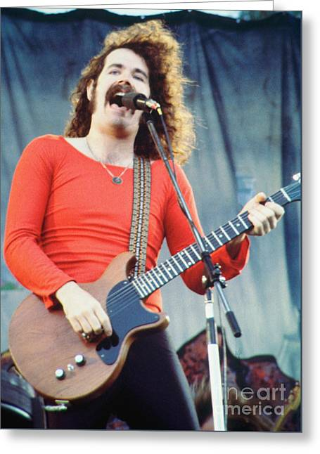 Brad Delp Of Boston-day On The Green 1 In Oakland Ca 5-6-79 1st Release Greeting Card