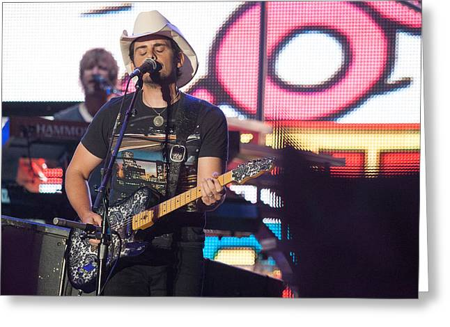 Brad Paisley Concert Greeting Card by Mike Burgquist