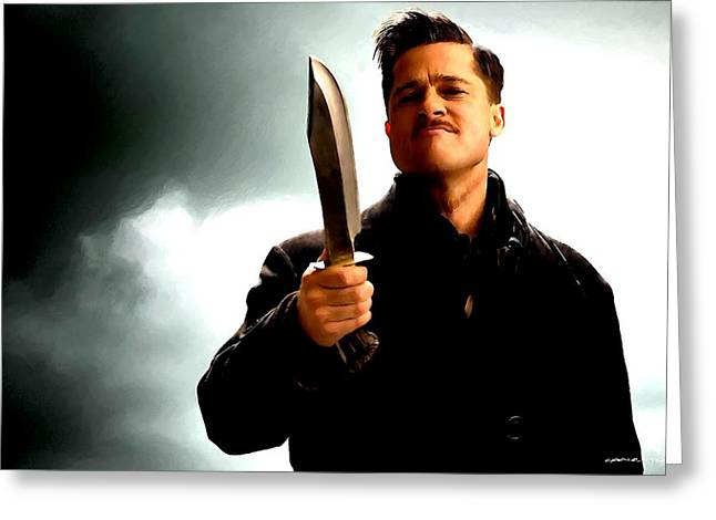 Brad Pitt @ Inglourious Basterds By Tarantino Greeting Card