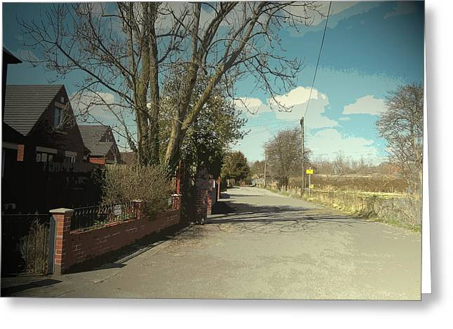 Bradshaw Street In New Sawley, A Private Road Close To Long Greeting Card