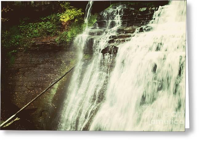 Bradywine Falls Greeting Card by Rachel Barrett
