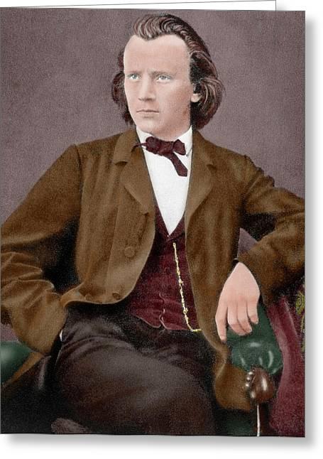 Brahms, Johannes (hamburgo, 1833-viena Greeting Card by Prisma Archivo