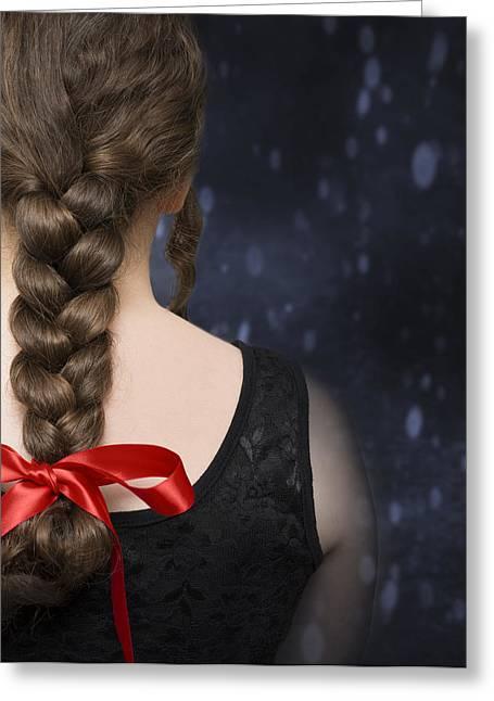 Braided Hair Greeting Card by Amanda Elwell