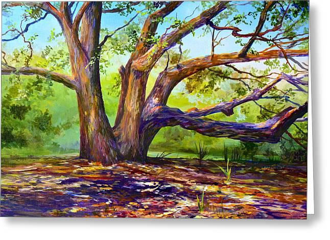 Braided Oak Greeting Card by AnnaJo Vahle