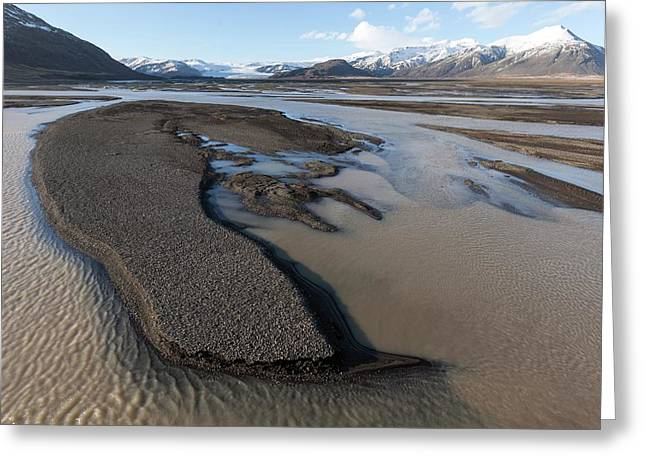 Braided River With Sandbars Greeting Card