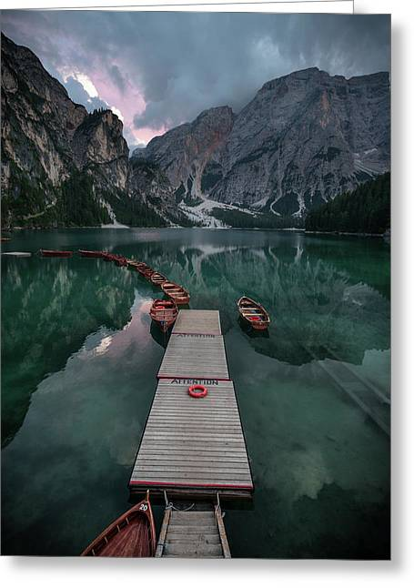 Braies Reflections Greeting Card