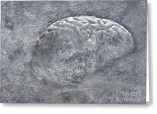 Brain Freeze Greeting Card by Mike Agliolo