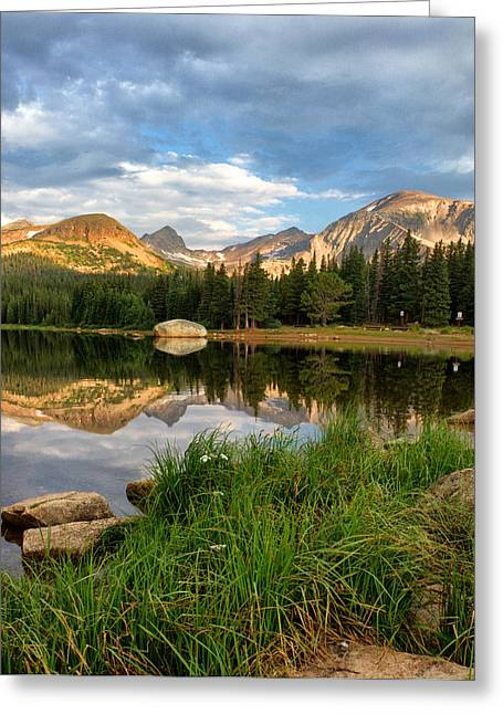 Brainard Lake Reflections Greeting Card