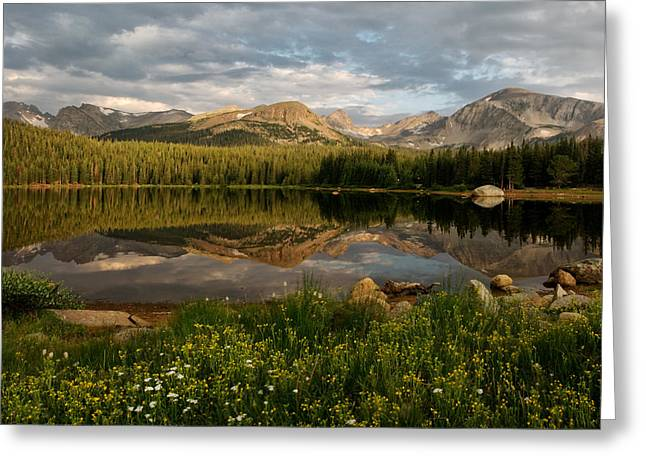 Greeting Card featuring the photograph Brainard Lake by Ronda Kimbrow