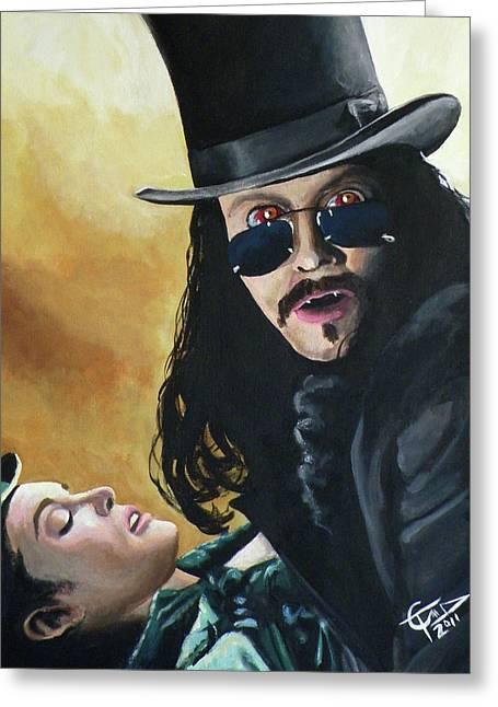 Bram Stoker's Dracula Greeting Card by Tom Carlton