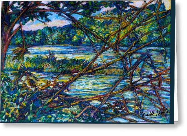 Brances Over The New River Greeting Card by Kendall Kessler