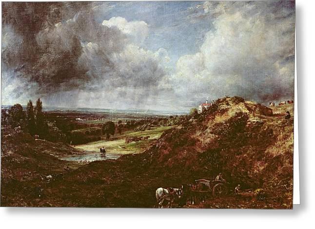 Branch Hill Pond, Hampstead Heath, 1828 Oil On Canvas Greeting Card