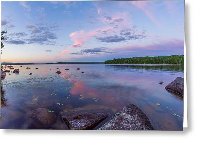 Branch Lake Mirror Sunset Greeting Card