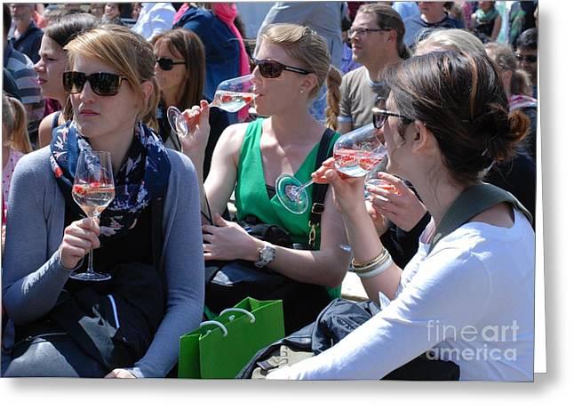 Brandenburg Wine Tasting Greeting Card by Andrea Simon