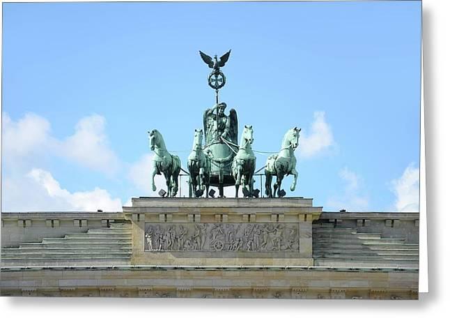 Brandenburg Gate Greeting Card by Detlev Van Ravenswaay