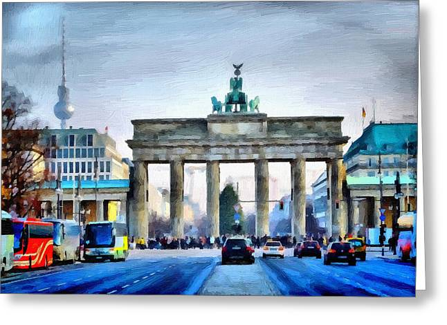 Brandenburg Gate Greeting Card by Ralph van Och