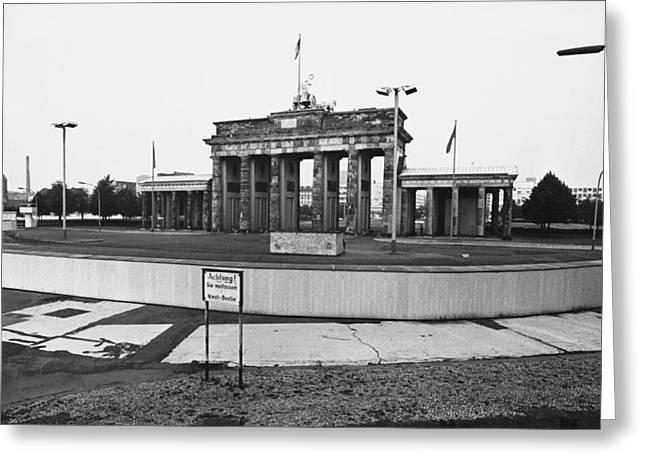 Brandenburg Gate Greeting Card by Jan Lukas