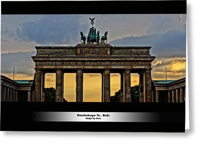 Brandenburger Tor Berlin Hdr Greeting Card by Alexander Drum