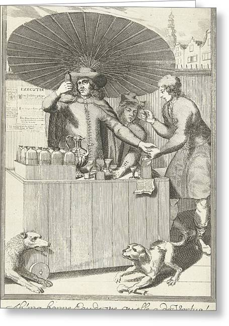 Brandy Seller, Pieter Van Den Berge Greeting Card by Pieter Van Den Berge