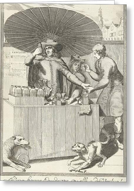 Brandy Seller, Pieter Van Den Berge Greeting Card