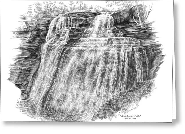 Brandywine Falls - Cuyahoga Valley National Park Greeting Card by Kelli Swan