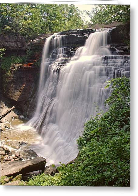 Brandywine Falls Greeting Card by Dennis Lundell