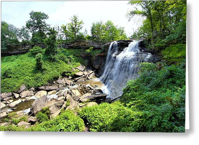Brandywine Falls Gorge Greeting Card by Dennis Lundell