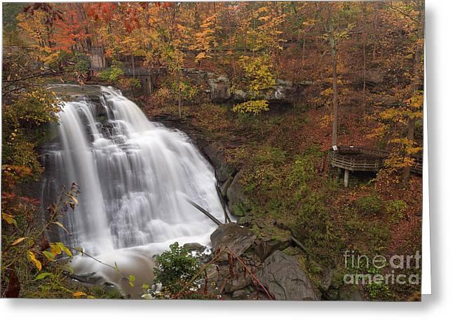 Brandywine Falls In Autumn Greeting Card by Joshua Clark