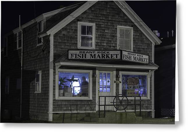 Brant Rock Fish Market Greeting Card by Kate Hannon