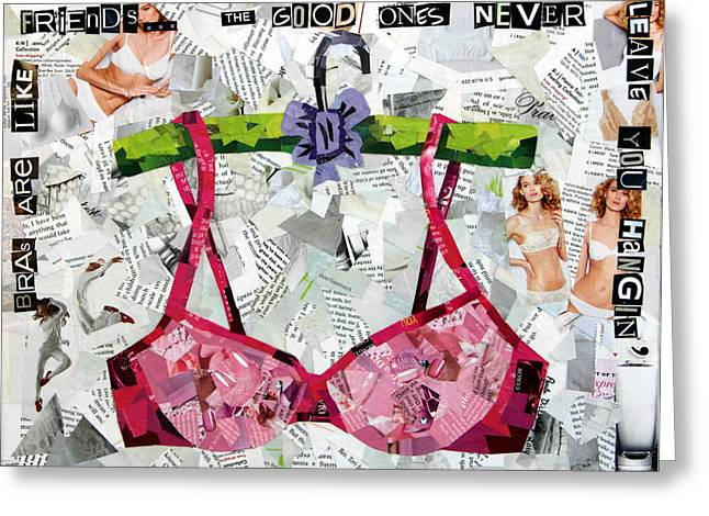 Bras Are Like Friends Greeting Card
