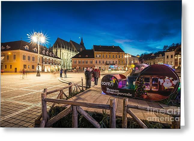 Brasov Romania Greeting Card by Iacob Danny