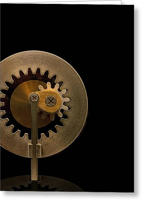 Brass Gears Greeting Card