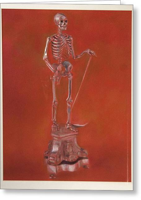 Brass Skeleton Greeting Card