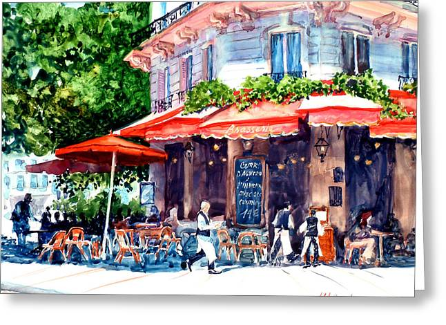 Brasserie Isle St. Louis Greeting Card
