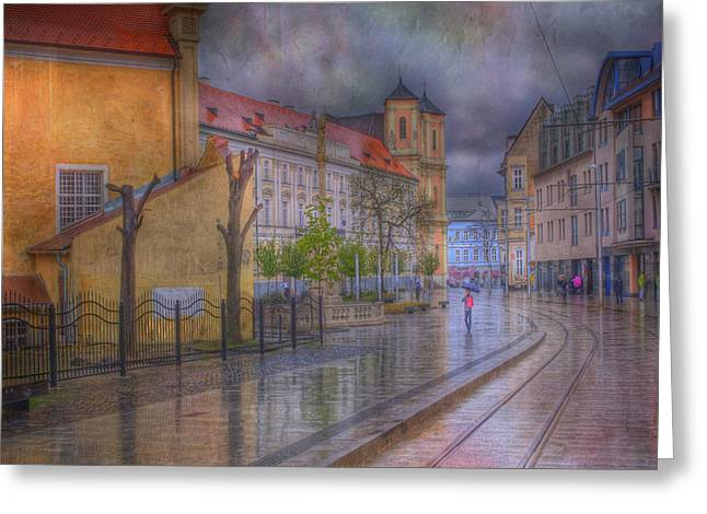 Bratislava Downtown Greeting Card by Juli Scalzi