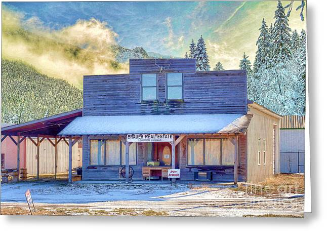 Greeting Card featuring the photograph Brauer Real Estate Linwood Kansas by Liane Wright
