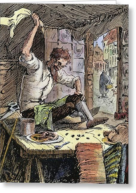 Brave Little Tailor, 1891 Greeting Card by Granger