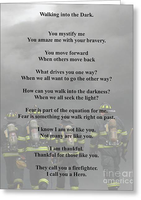Brave Poem Greeting Card