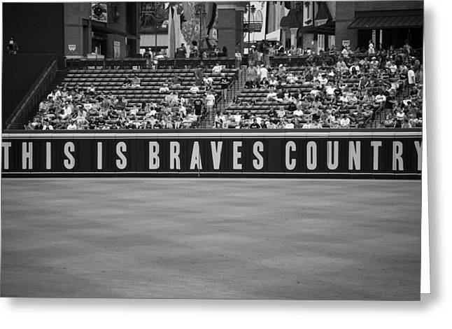 Braves Country Greeting Card by Sara Jackson