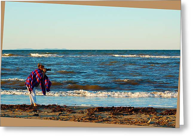 Braving For That Perfect Shot Greeting Card by Ron Haist