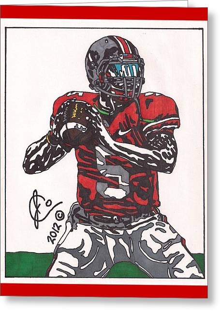 Braxton Miller 1 Greeting Card by Jeremiah Colley