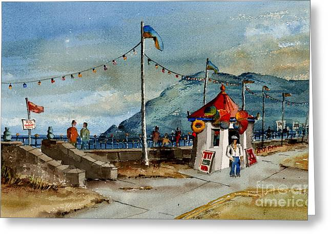 Bray Head And Prom Wicklow Greeting Card