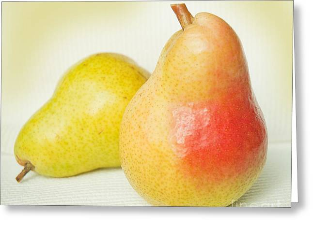 Brazen Pear Greeting Card by Lena Wilhite