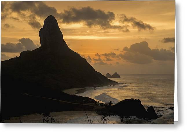 Brazil, Pernambuco, View Of Morro Greeting Card by Dosfotos