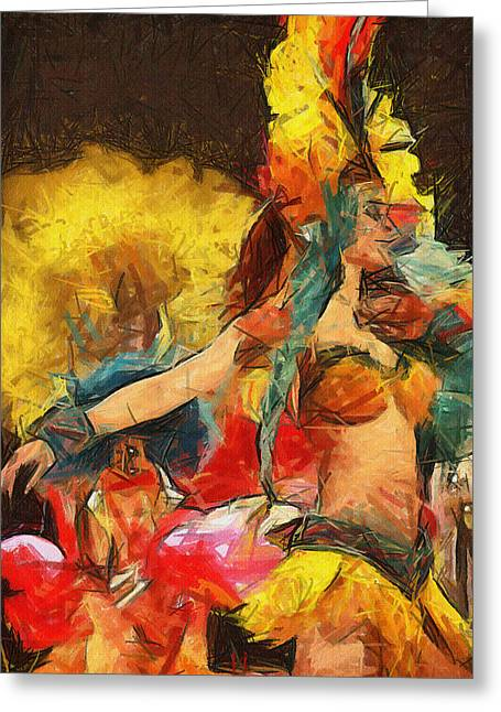 Brazilian Carnival Greeting Card by Ayse Deniz