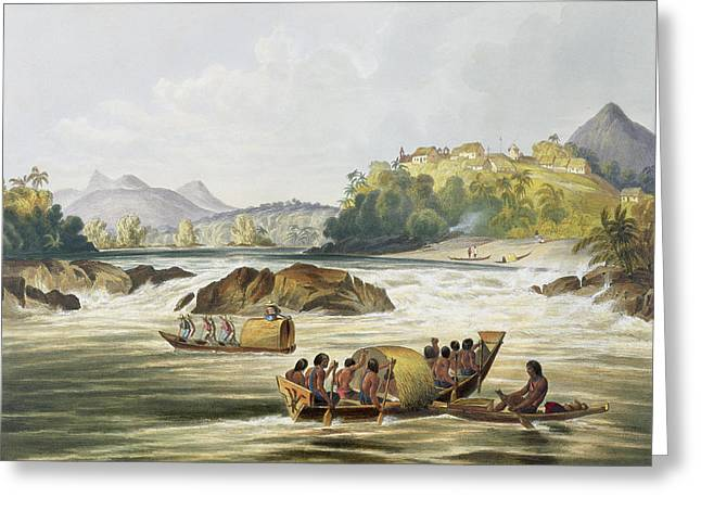 Brazilian Fort St. Gabriel On The Rio Greeting Card by Charles Bentley
