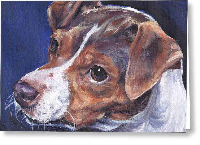 Brazilian Terrier Greeting Card by Lee Ann Shepard